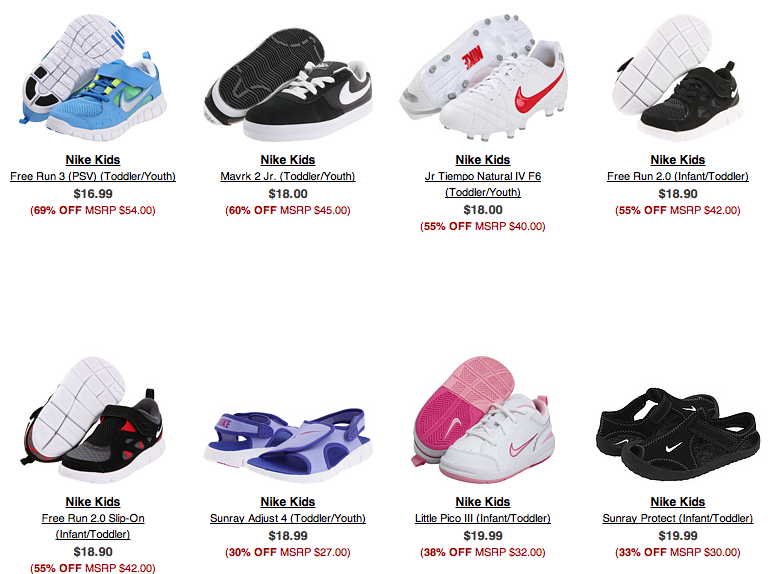 0f8632b3ed32 HOT  6pm  Nike Shoes up to 70% off!!! Starting under  20 for ...