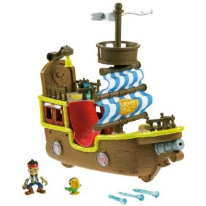Fisher Price Jake and the Never Land Pirates  Jake's Musical Pirate Ship Bucky