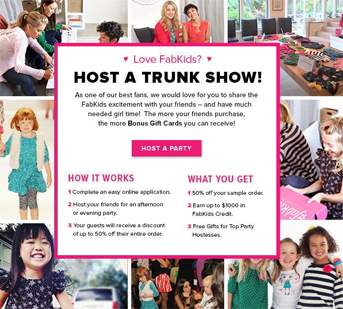 *HOT* Host A FabKids Trunk Show = Up To $1000 In FabKids