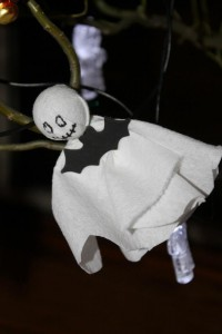 Toilet Paper Ghost ornament