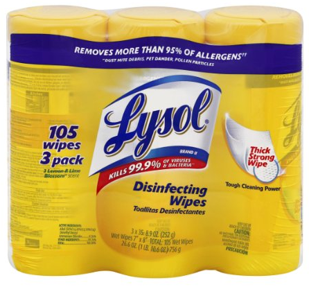 Amazon.com  Lysol Disinfecting Wipes  Lemon and Lime Blossom Triple Pack  3   35 Wet Wipe Cannisters  Health   Personal Care