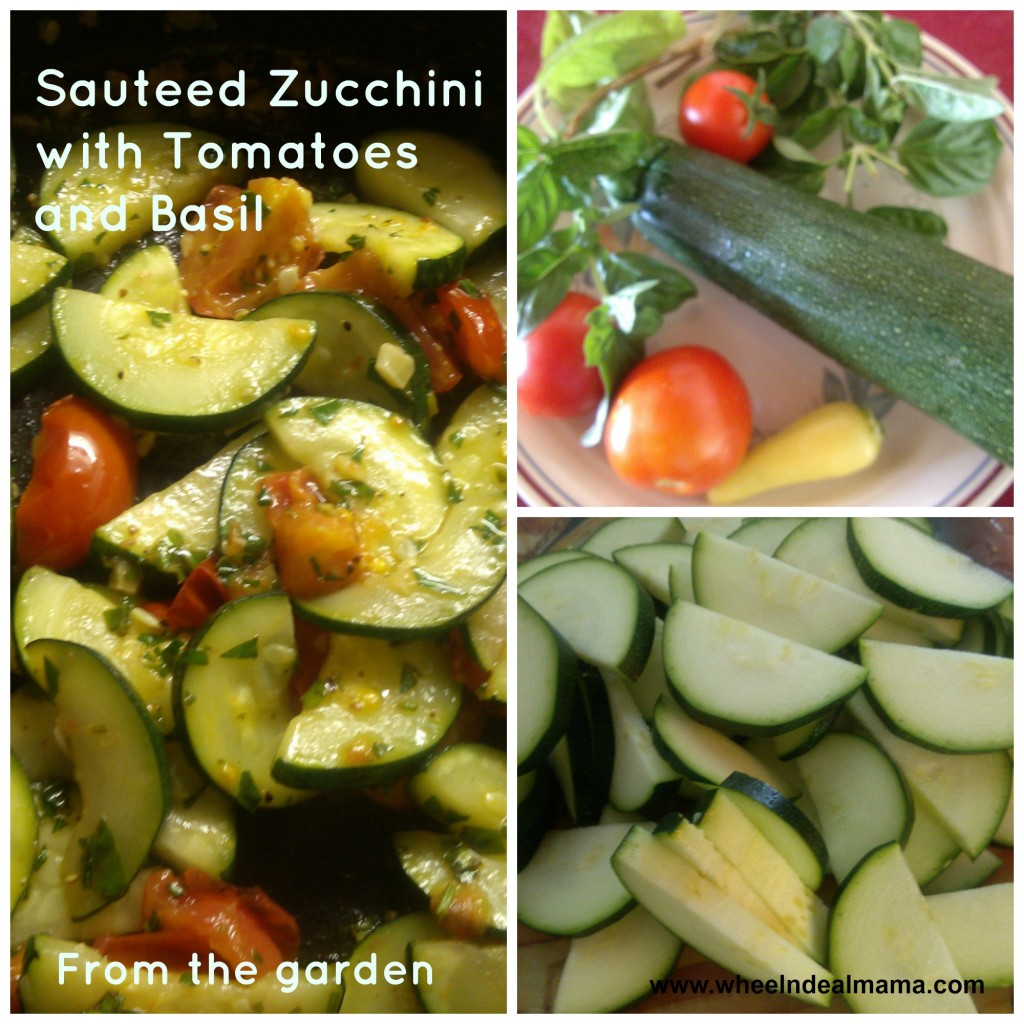 Sauteed Zucchini with Tomatoes and Basil