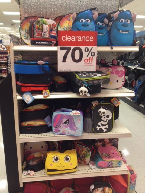 Target Clearance! Up to 70% off Backpack and Lunchboxes ...