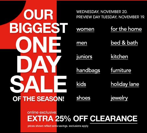 Macys Sell: *HOT* Macy's ONE DAY SALE!!! PLUS 13% Cash Back!!! INSANE