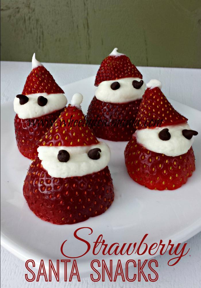 Strawberry Santa Snacks