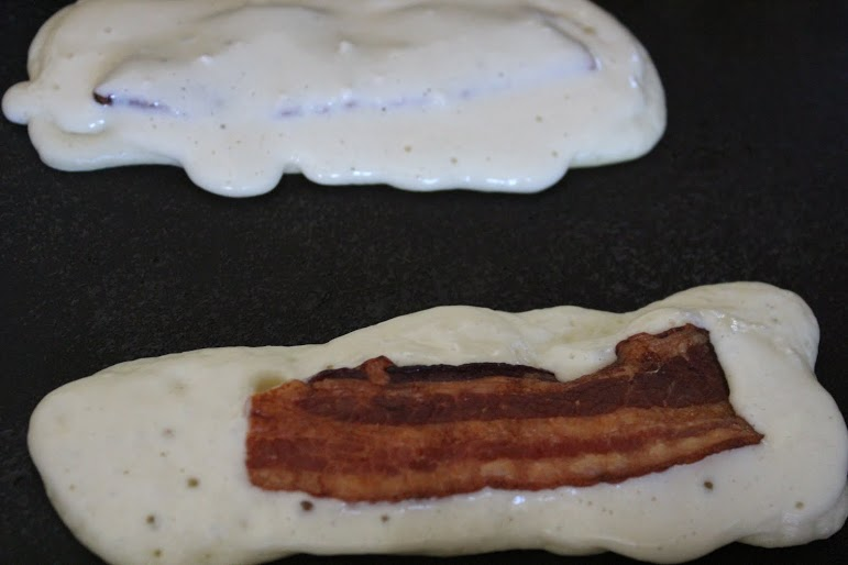 Bacon Pancake Dippers stove