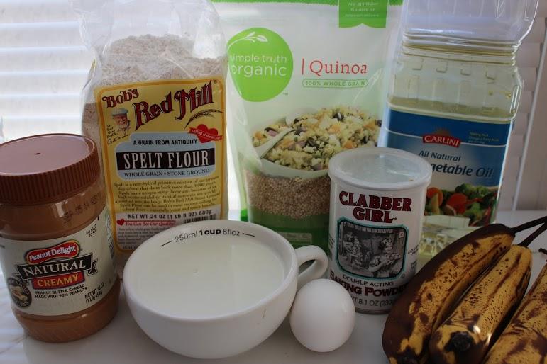 Banana PB Quinoa Muffins