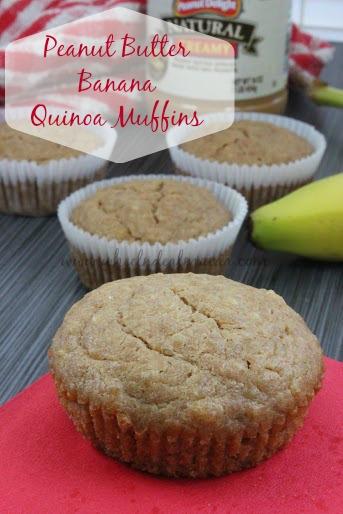 Banana Peanut Butter Quinoa Muffins