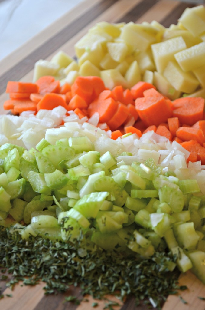 Cheesy Potato Soup ingredients
