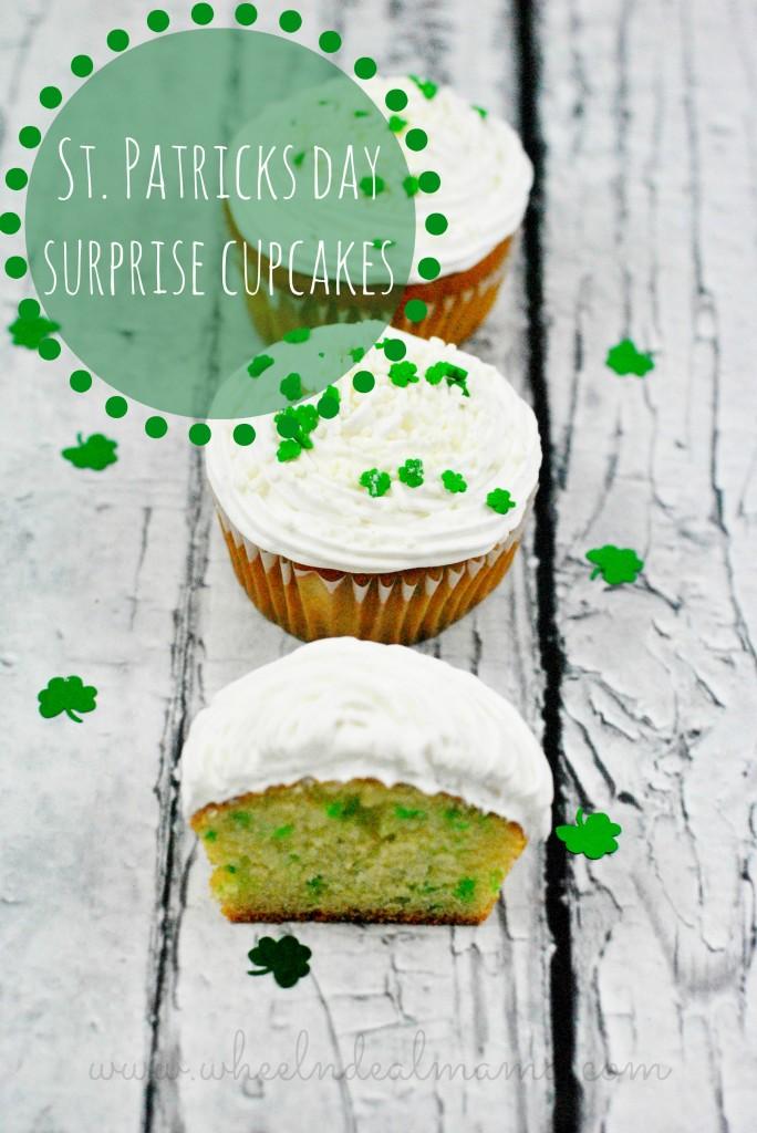 St Patricks Day Surprise Cupcakes