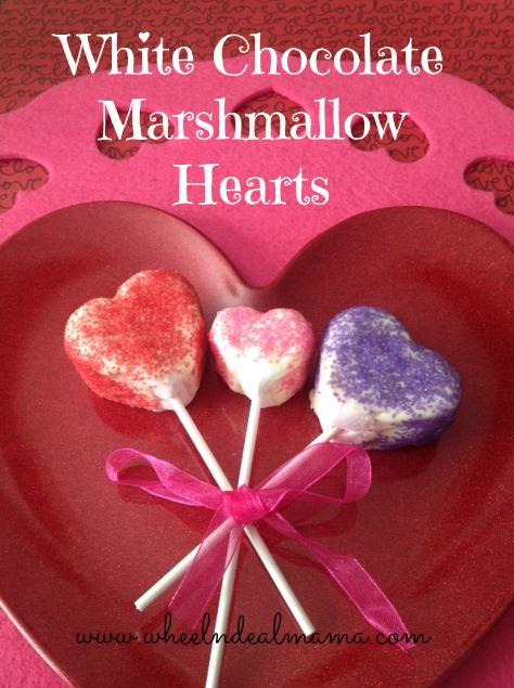 White Chocolate Marshmallow Hearts