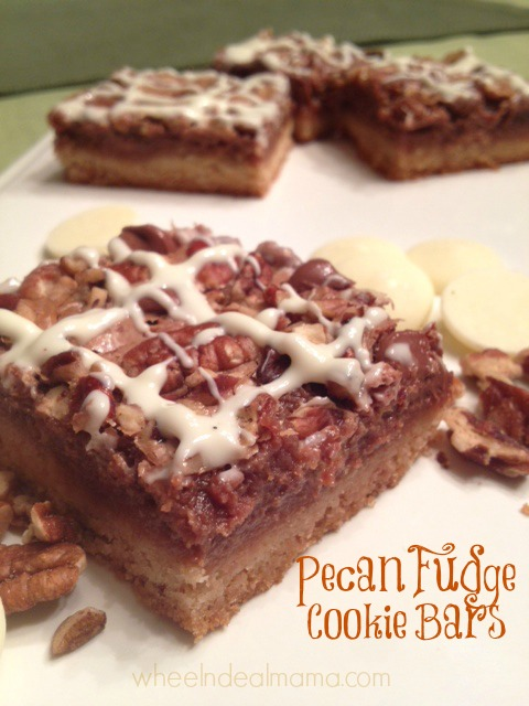 Pecan Fudge Cookie Bars
