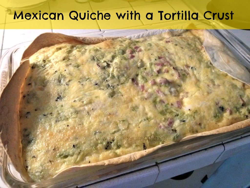 Mexican Quiche with a Tortilla Crust