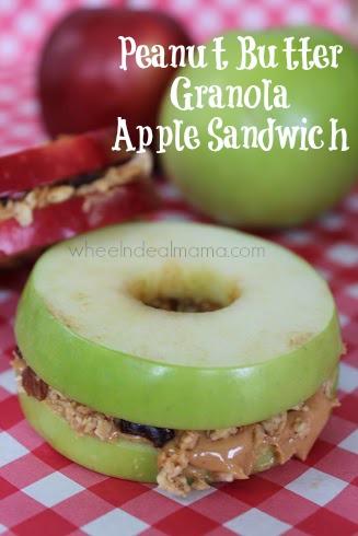 Peanut Butter Granola Apple Sandwich