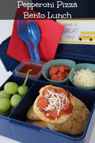 Pepperoni Pizza Bento Lunch