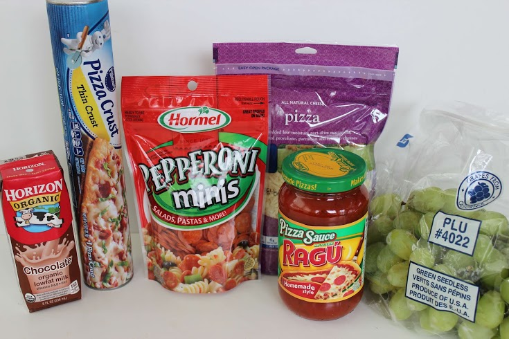 Pepperoni Pizza Bento Lunch, Make your Own Lunchables at Home!