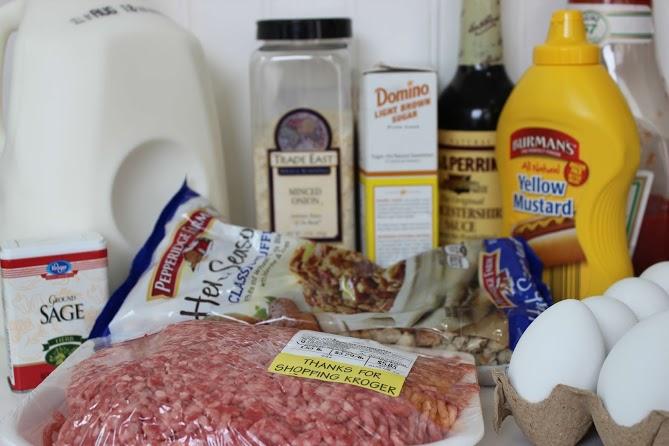 Ingredients for Crock Pot Meatloaf