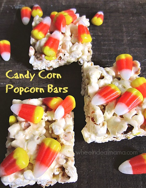 Candy Corn Popcorn Bars