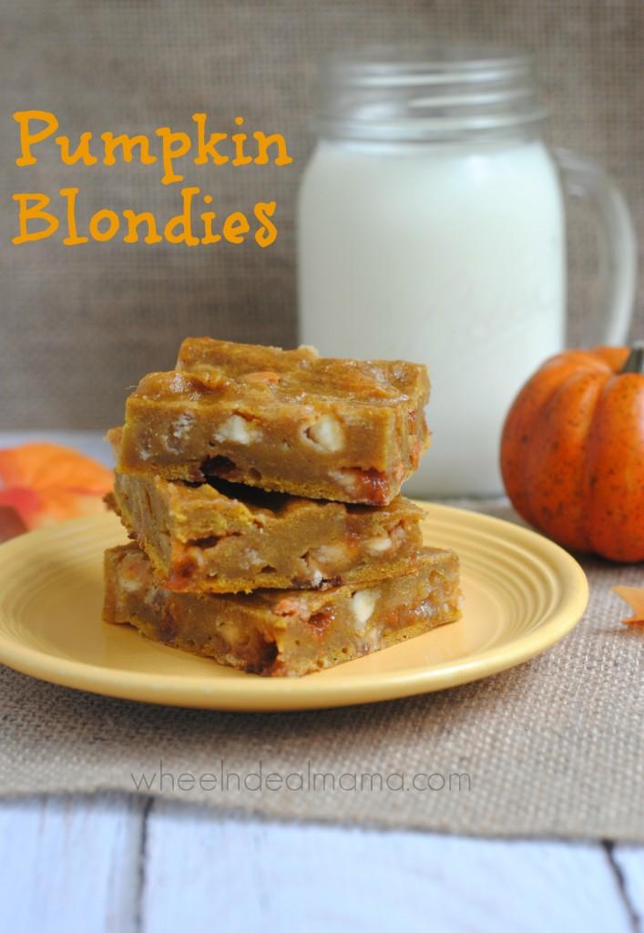 Pumpkin Blondie Bars