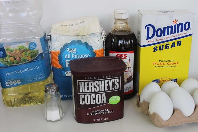 ingredients for ghost brownies