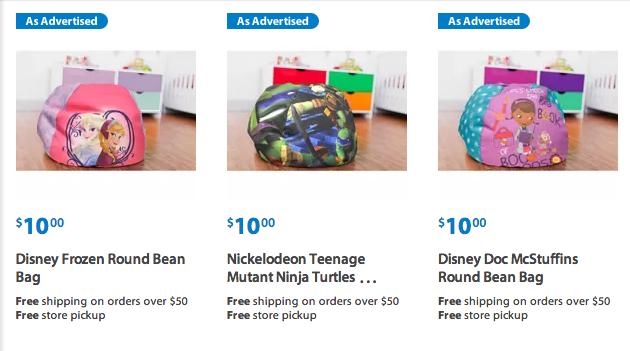 Pleasing Walmart Character Bean Bag Chairs Just 10 Each Frozen Creativecarmelina Interior Chair Design Creativecarmelinacom