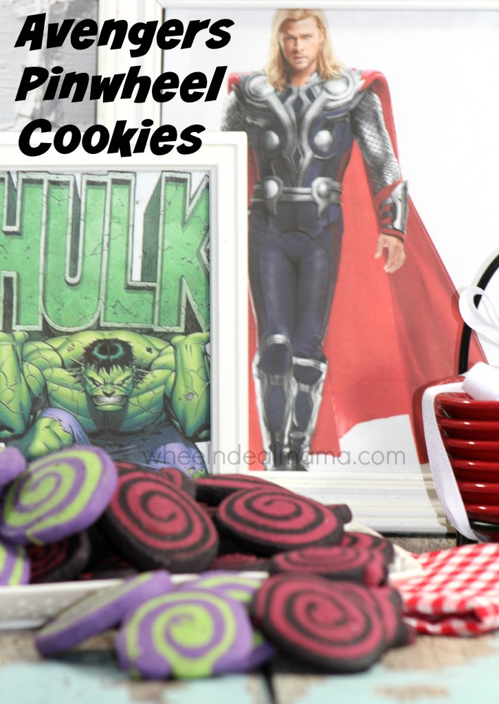 Avengers Pinwheel Cookies