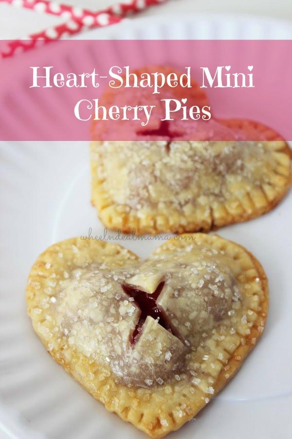 Heart Shaped Mini Cherry Pies
