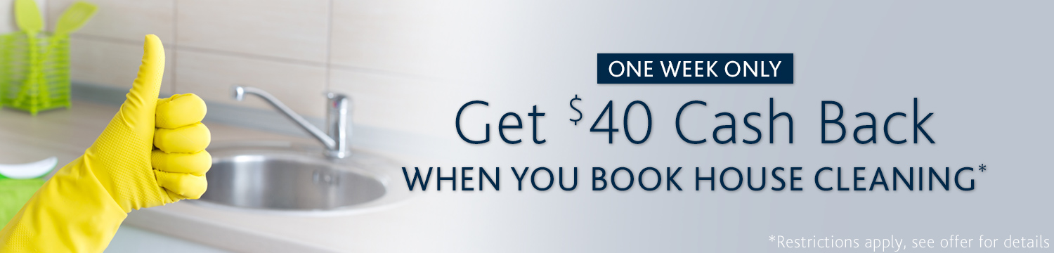 40 cash back when you book house cleaning at amazon. Black Bedroom Furniture Sets. Home Design Ideas