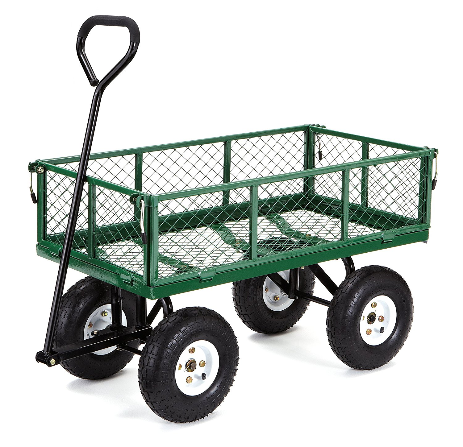 Gorilla Carts Steel Utility Cart W Removable Sides 55 05