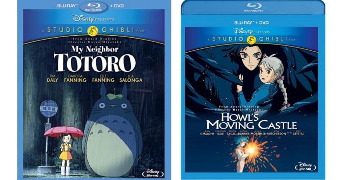 Disney Studio Ghibli Blu-ray + DVDs ONLY $10.87 Each