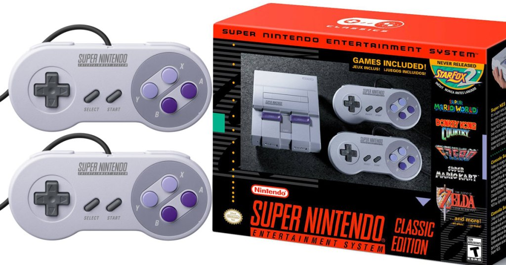 Super NES Classic Edition Console With 21 Games $79 99 COMING SOON