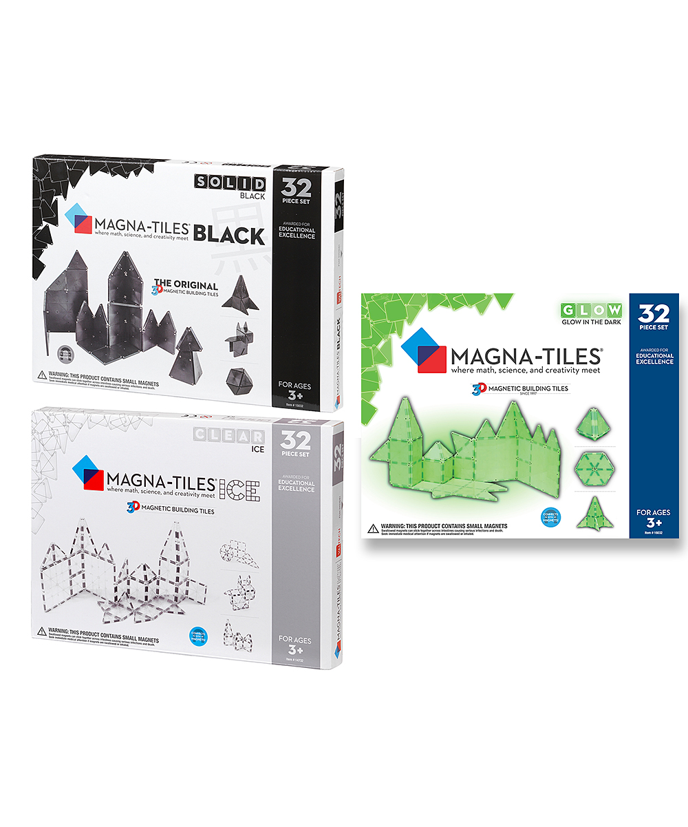 Magna Tiles Ice Black Amp Glow 96 Piece Special Set 99 99