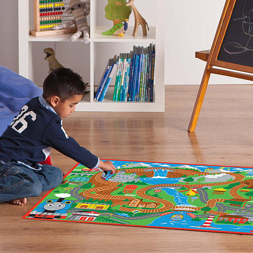 Thomas And Friends Blue Mountain Game Tall Rug W 2 Trains