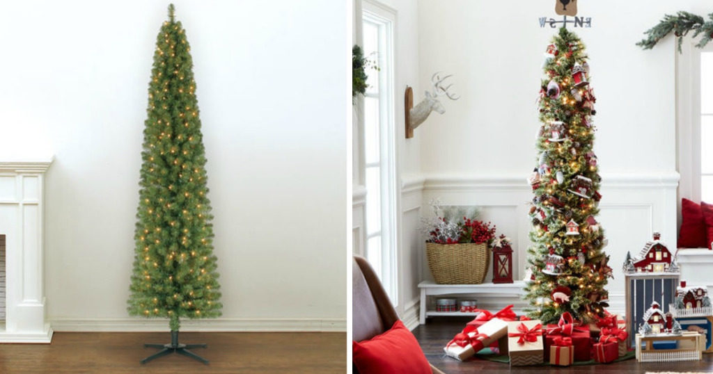 Re-Lit 7 Foot Pencil Artificial Christmas Tree $39.99