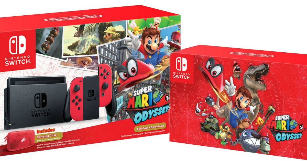 Nintendo Switch Super Mario Odyssey Edition Bundle 379 99