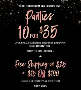 ecdb30076d Victoria s Secret  Early Cyber Monday deal!!! 10 for  35 Panties and more!!