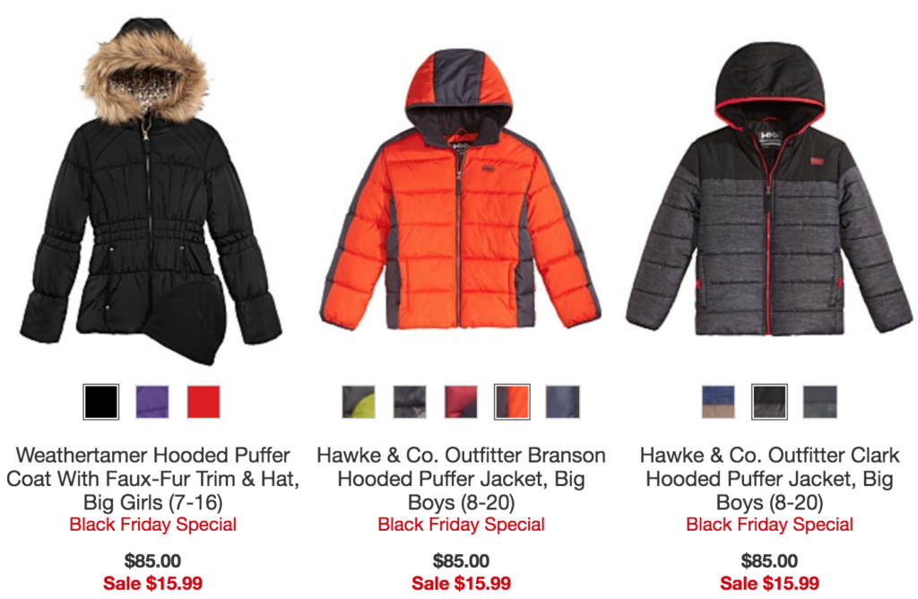 44520733b Macy's: $85 Kids' Cold Weather Jackets just $15.99!!!! - Wheel N ...