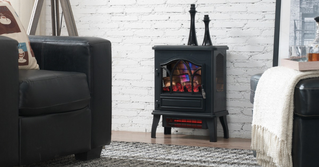 Chimney Free Electric Stove Heater 39 Shipped Reg 85