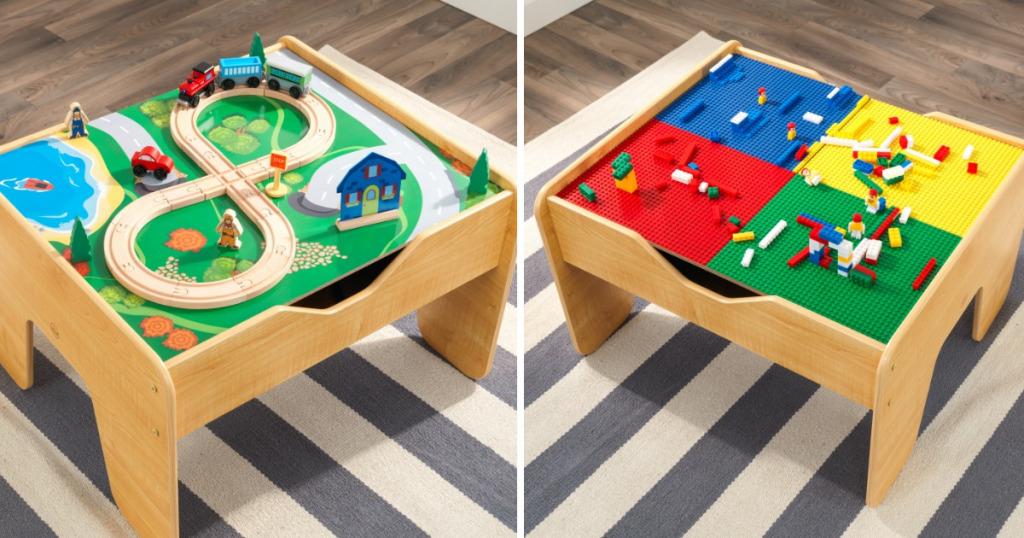 kidkraft lego compatible 2 in 1 activity table. Black Bedroom Furniture Sets. Home Design Ideas